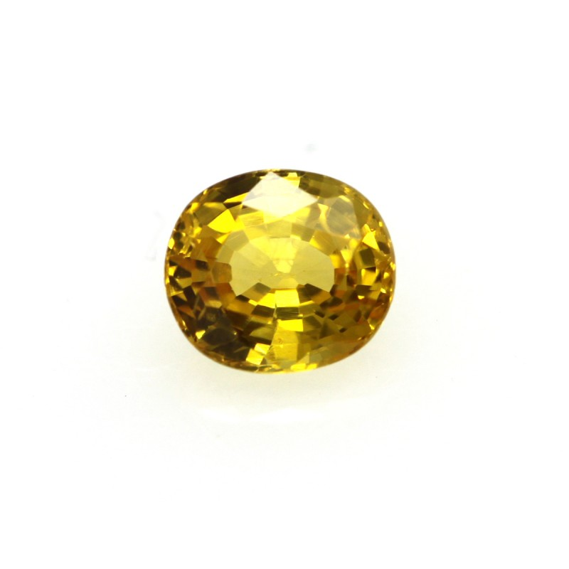 0.46cts Natural Australian Gold Sapphire Oval Shape
