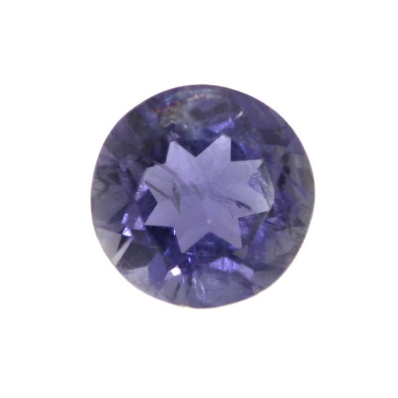 1.27cts Violetish/Blue Iolite Round Cut