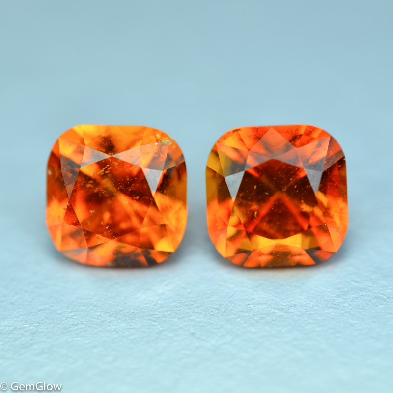 3.68 Cts Splendid Rare lustrous Clinohumite Pair Collection