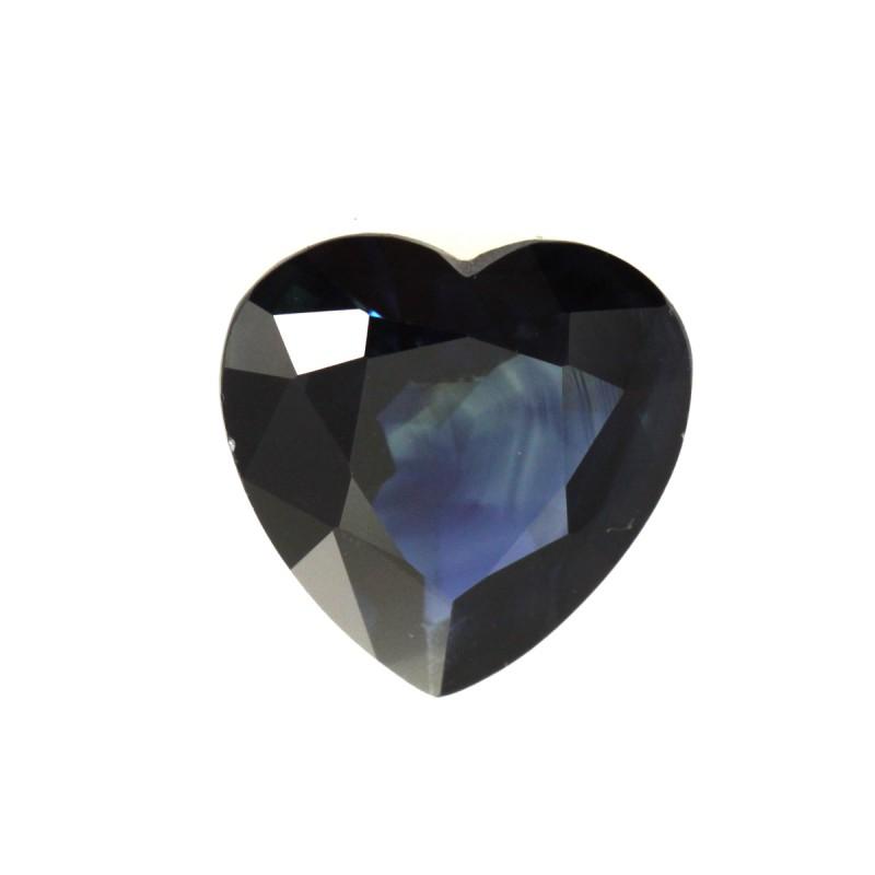 1.40cts Natural Australian Blue Sapphire Heart Shape