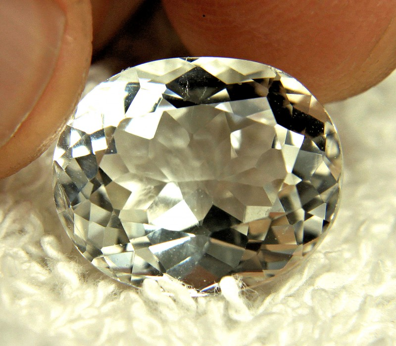 12.36 Ct. White Brazilian Topaz - Gorgeous