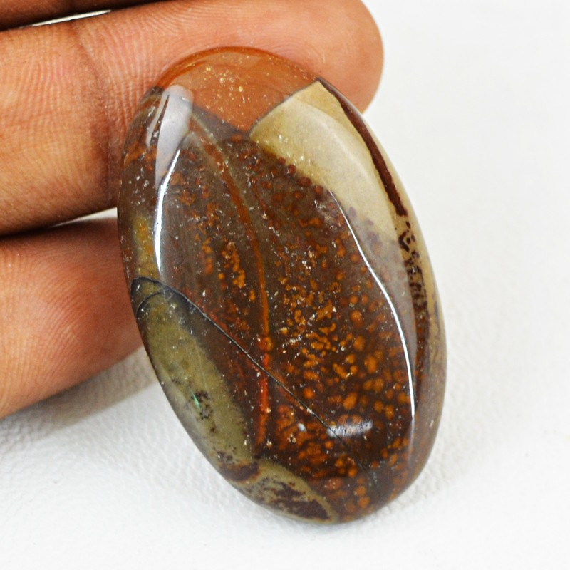 Genuine 51.50 Cts Willow Creek Jasper Untreated Cab