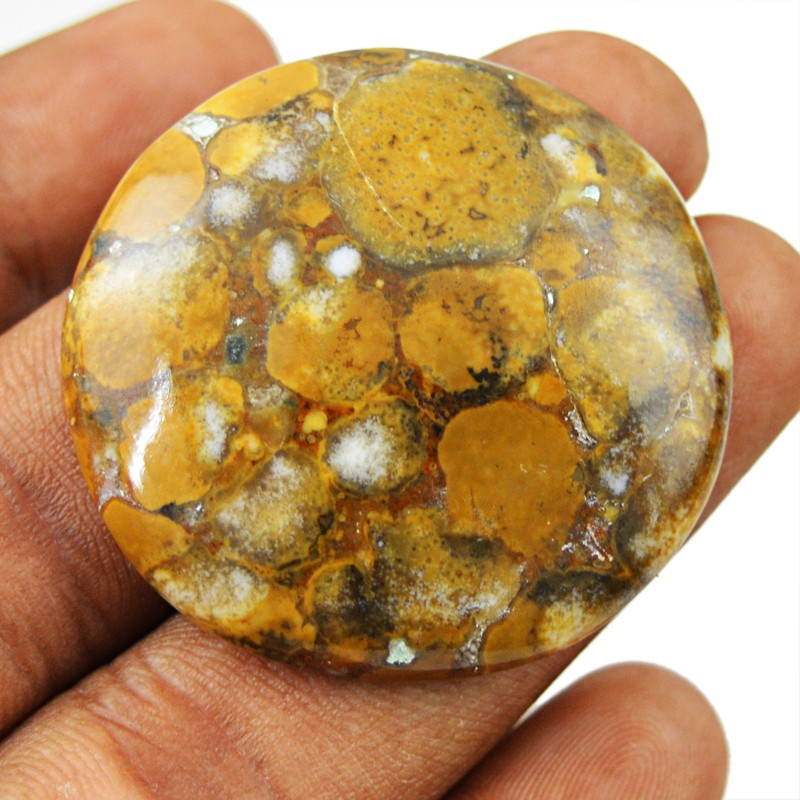 Genuine 61.00 Cts Round Shape Hungarian Agate Cab