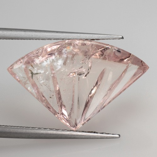7.30 Cts Natural Morganite Carving Peach Pink Brazil