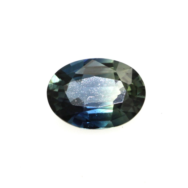 0.63cts Natural Australian Blue Parti Sapphire Oval Shape