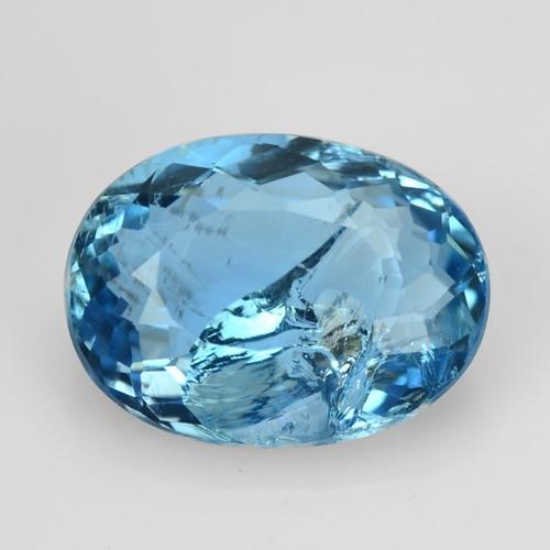 1.06 Cts NATURAL SANTA MARIA BLUE AQUAMARINE OVAL BRAZIL