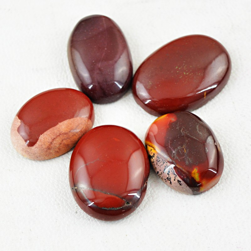 Genuine 95.50 Cts Mookaite Oval Shape Cab Lot