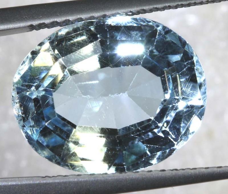 8.45CTS BLUE TOPAZ  FACETED GEMSTONE TBG-2590