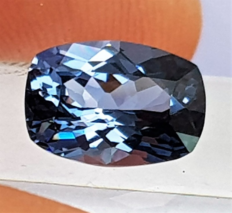 2.26cts Certified Blue Spinel, Precision cut,  100% Untreated,