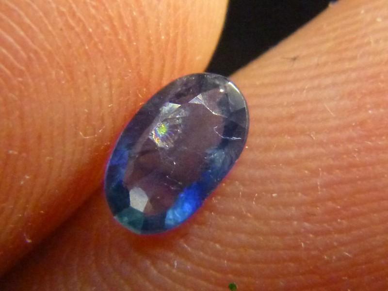 0.50ct Blue Ceylon Sapphire , 100% Natural Untreated Gemstone