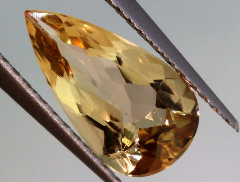 1.55CTS CERTIFIED GOLDEN/SHERRY TOPAZ FACETED GEMSTONE TBM-1380