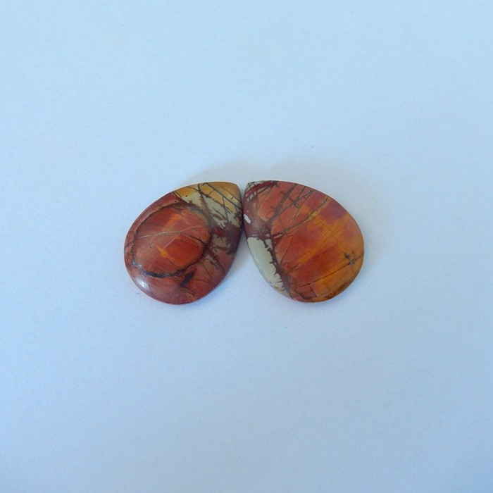 18.5ct Natural Multi-Color Picasso Jasper Cabochon Pairs(17110907)