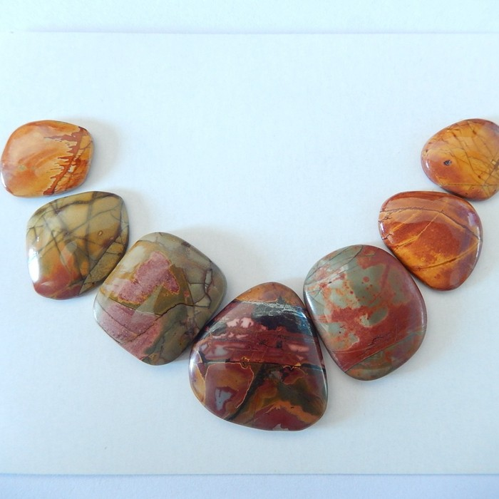 79.5ct Natural Multi-Color Picasso Jasper Cabochons(17111001)