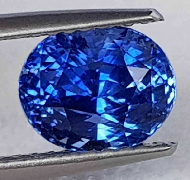 sapphire description blue ceylon carat color slightly cornflower pin greenish