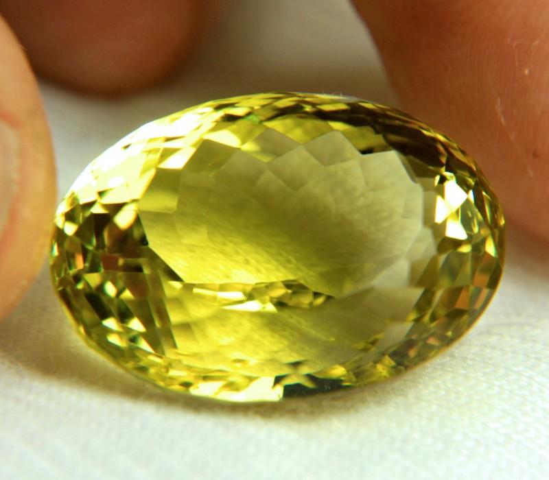 37.6 Carat Lemon Yellow VVS Quartz - Superb