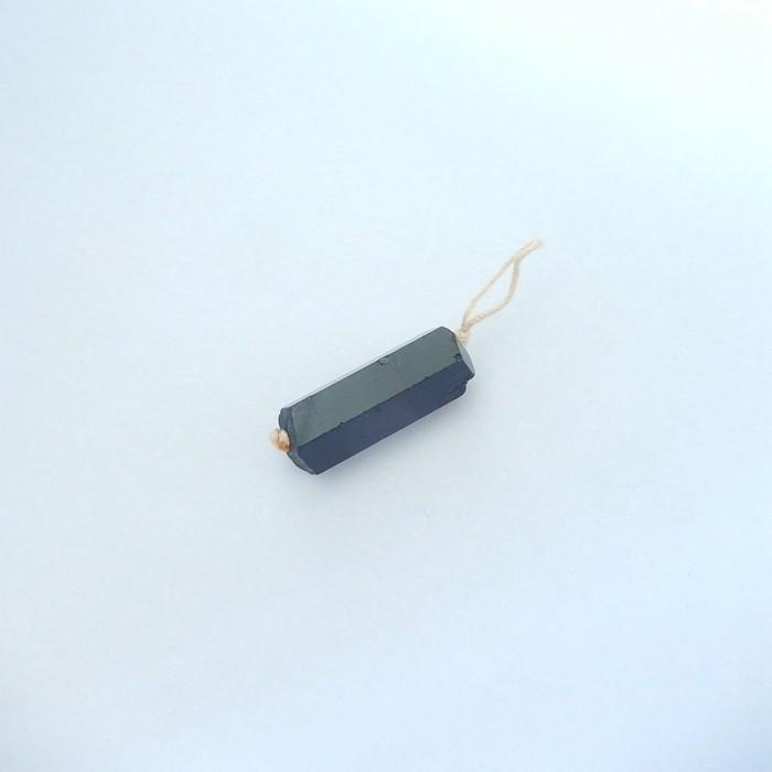 26ct Natural Black Tourmaline Crystal Pendant Beads(17111501)