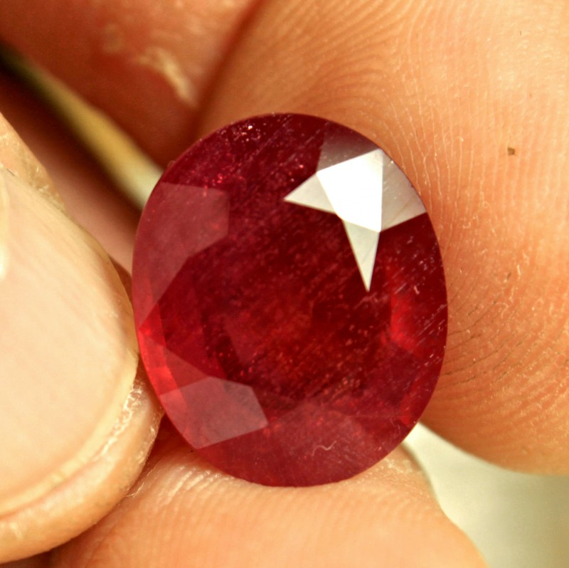 13.58 Carat Large Fiery Ruby - Gorgeous