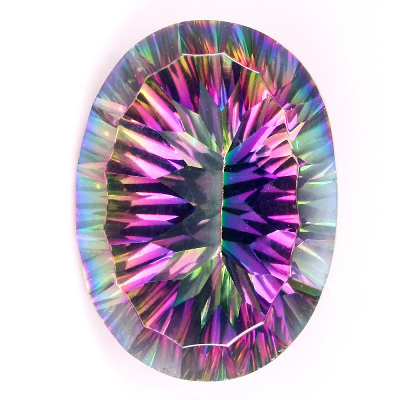 21.74ct Large Rainbow Mystic Quartz gem VVS