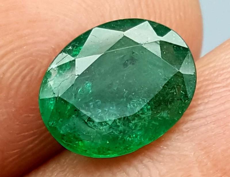 100% Natural Zambian Emerald 1.85Crt  jle04