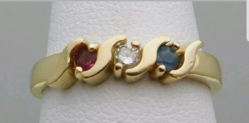 Wondrous $1600 Nat 0.38 ct. Diamond & Ruby Ring 14k Solid Ylw Gold Untr