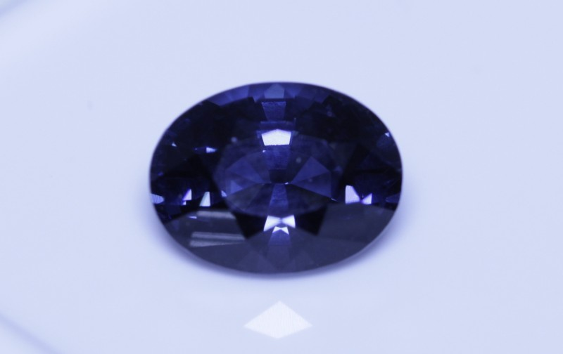 Cobalt certified spinel.   Sri Lankan mined.  Color switch from blue green as seen in video taken in natural light.  Photo's taken inside lighting.