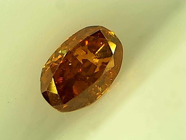 0.19ct Fancy Deep yellowish Orange  , 100% Natural Untreated