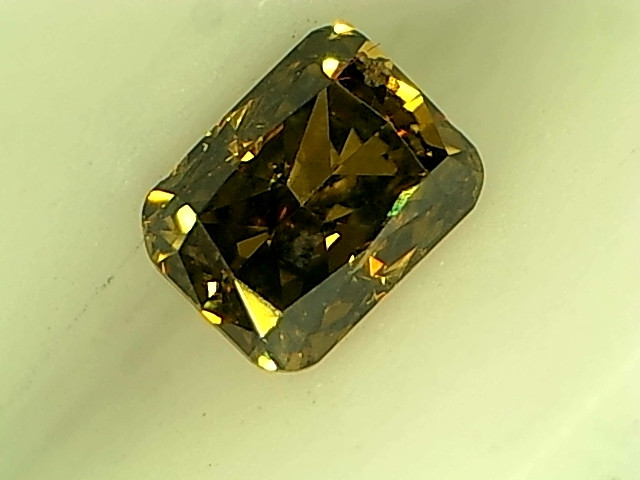 0.23ct Fancy Deep Brown Green Diamond , 100% Natural Untreated