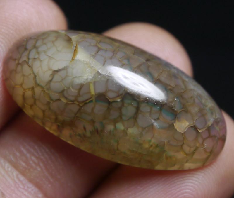 25.90 Ct Natural Beautiful Dragon Skin Chalcedony Agate