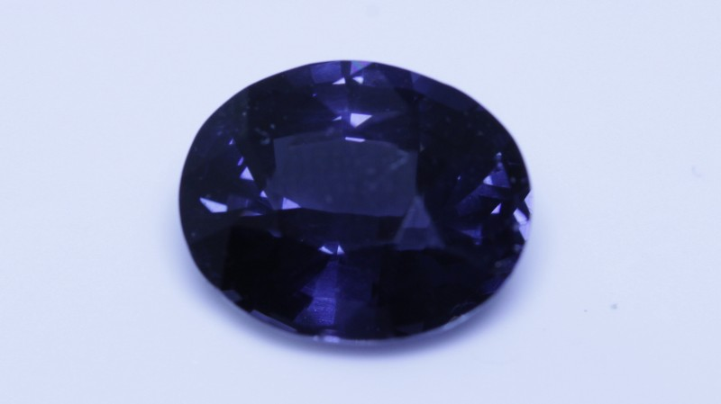 Cobalt certified spinel.  You can see in the video the stone has high luster and nothing to speak of for inclusions.