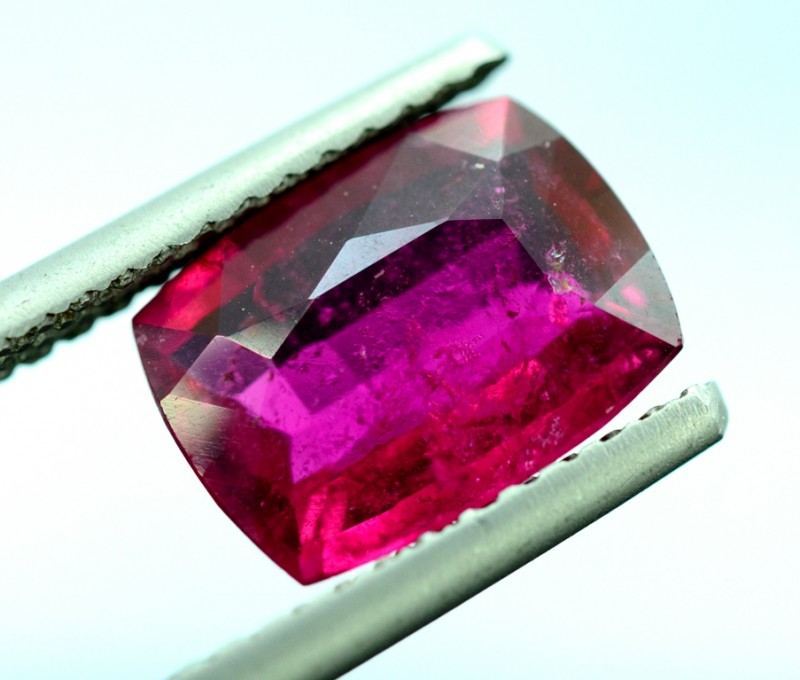 Certified 3.31 cts Untreated Rubelite Gemstone from Afghanistan