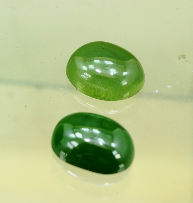 35.65Cts Natural Green Jade Cabochons Parcels from Afghanistan