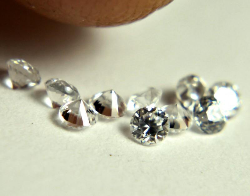 0.51 Tcw. White Zircon VVS Accent Gems - Beautiful