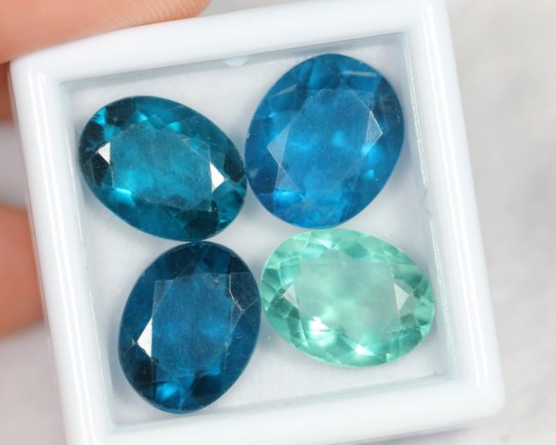 NR Lot 07 ~ 18.98Ct Natural VS Multi Blue Green Color Fluorite