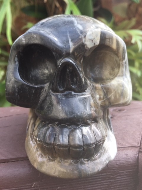 Spooky Jasper Gemstone Skull  PPP 1664
