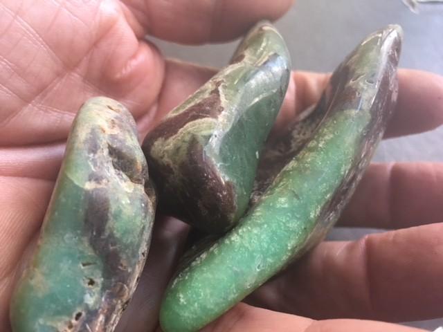 Parcel 3 Australian jade ,Chrysoprase ppp 1774