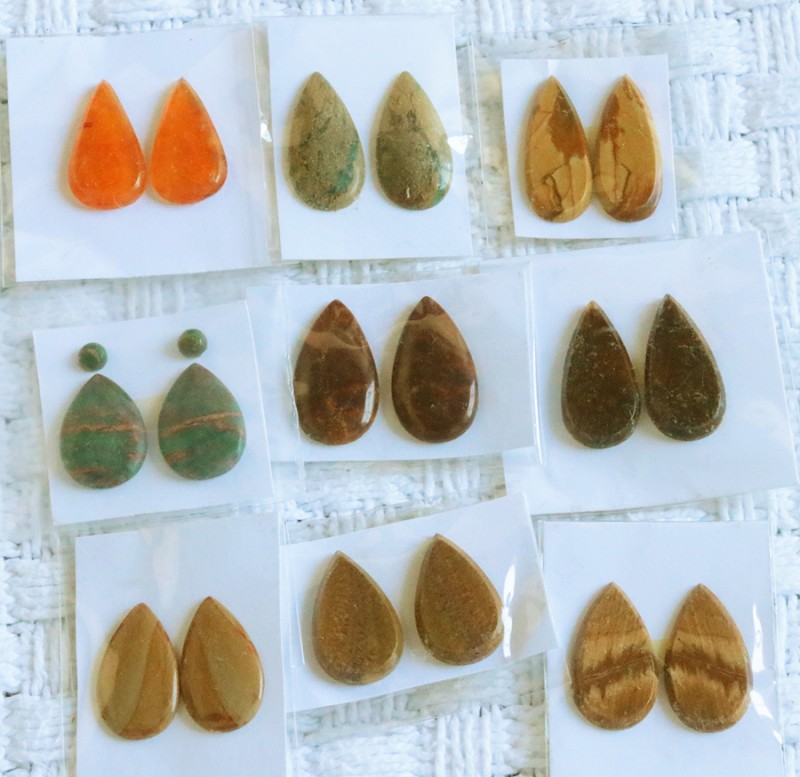 10 Pairs Manufactures Parcel Pear jasper Pairs    PPP 1851