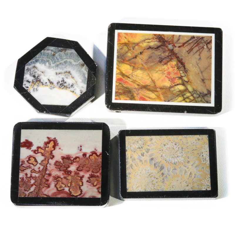 Four Manufactures Parcel  Jasper Inlay    PPP 1865