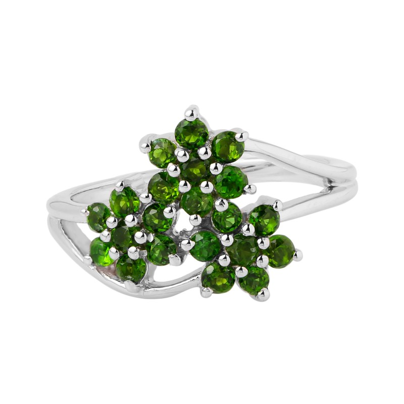 Chrome diopside 925 Sterling silver ring #460