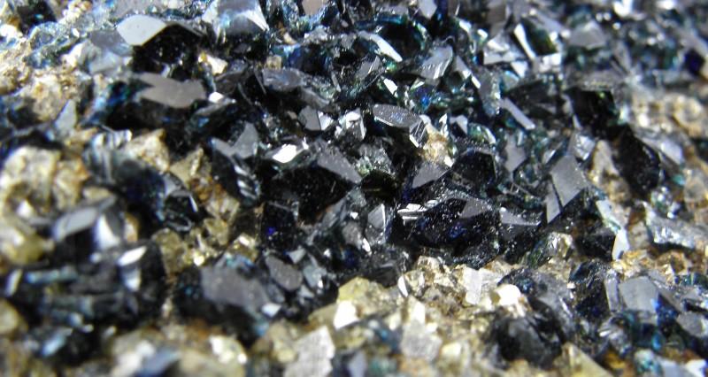 Very rare Lazurite display specimen from Rapid Creek, Dawson Mining Distric