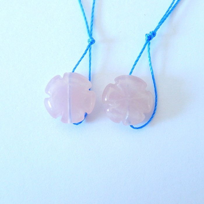 9.5CT Natural Carved Rose Quartz Earrings Pairs For Women,Fashion Jewelry A