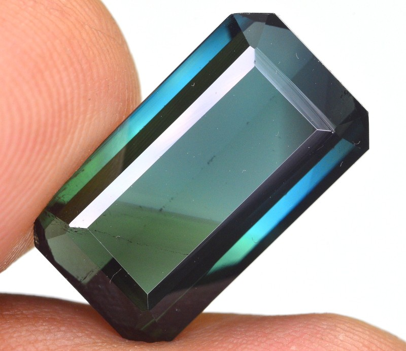 NATURAL 6.55 CT B~I COLOR BLUE GREEN TOURMALINE