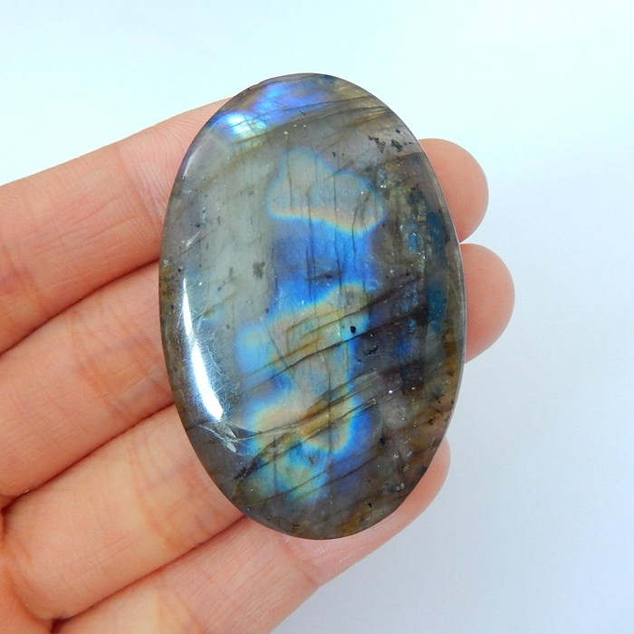 100ct Natural Gemstone Blue Labradorite Oval Cabochon(18010308)