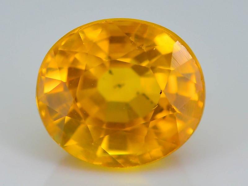 Gil Certified 1.29 ct Orangish Yellow Sapphire ~ Sri Lanka