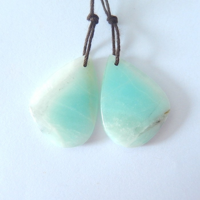 34.5ct Natural Skyblue Amazonite Earrings For Women(18010701)