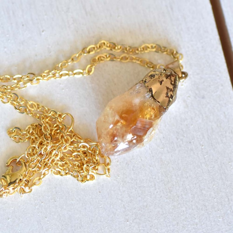 Natural Citrine Necklace