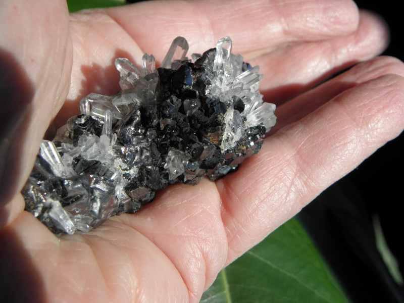 Rare Quartz, Sphalerite Specimen Huaron Mine, San Jose DE Huayllay, Plasco
