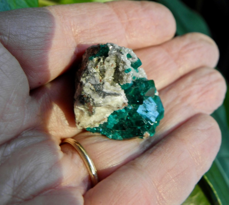 Very Rare Dioptase display Specimen from Tsumeb Mine Namibia