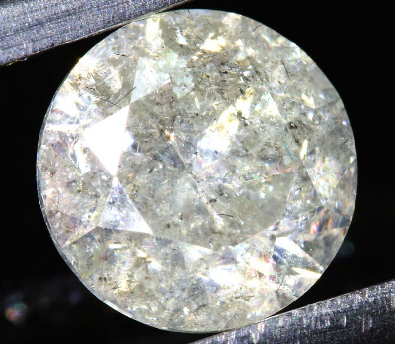 ---certified--- 2.179 CTS WHITE DIAMOND FACETED SD- KOA-6