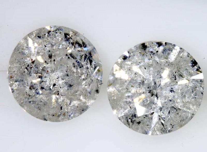 2.03 CTS WHITE DIAMOND FACETED SD- KOA-7