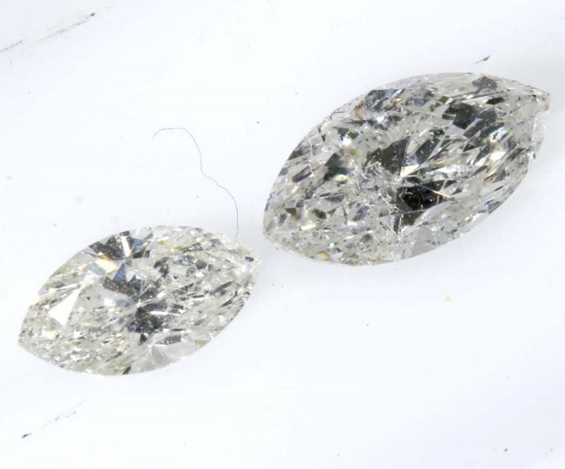 0.68 CTS WHITE DIAMOND FACETED SD- KOA-8